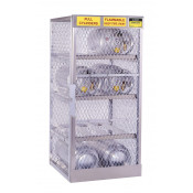 Cylinder Locker For Safe Storage Of 8 Horizontal LPG Cylinders