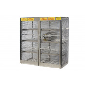 Cylinder Locker For Safe Storage Of 16 Horizontal 20 Or 33-Lb. LPG Cylinders