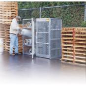 Cylinder Locker For Safe Storage Of Up To 10 Vertical Compressed Gas Cylinders
