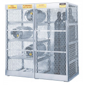 Cylinder Locker Combo For Safe Storage Of 8 Horizontal LPG And 10 Vertical Compressed Gas Cylinders