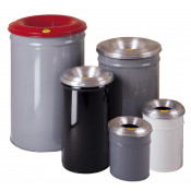 Cease-Fire   Waste Receptacle, Safety Drum Can with Steel Head, 55 gallon, Gray.