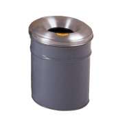 Cease-Fire  Waste Receptacle, Safety Drum Can with Aluminum Head, 6 gallon, Gray.