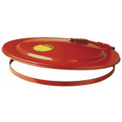 Drum Cover with Fusible Link for 30-gallon drum, self-close, steel, Red