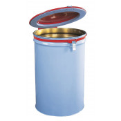 Drum Cover with Vent and Gasket for 55-gallon drum, manual-close, steel, Red.