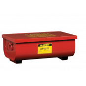 Rinse Tank, Benchtop, 11 gallon, lift-and-latch cover with fusible link, drain plug, Steel, Red.