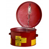 Dip Tank for cleaning parts, 1 gallon, manual cover with fusible link in case of fire, Steel, Red.