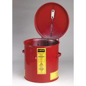 Dip Tank for cleaning parts, 2 gal, manual cover with fusible link, optional parts basket, Steel, Red.