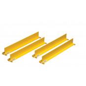"Shelf Dividers fit shelf depth of 18"", set/4, yellow."