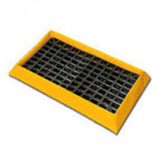 "15 Gal 2-Drum SpillNEST with  HDPE Grate, 32.25"" x 57.75""-Yellow"