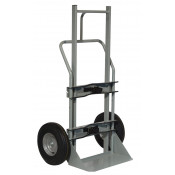 Single Cryogenic Cylinder Hand Truck, 10 Inch Flat-Free Wheels