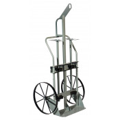 Double Cylinder Hand Truck with Hoist Ring, 20 Inch Steel Wheels