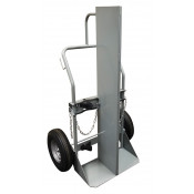 Double Cylinder Hand Truck with Firewall, 16 Inch Pneumatic Wheels