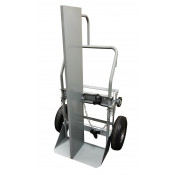 Double Cylinder Hand Truck with Firewall, 10.5 Inch Pneumatic Wheels