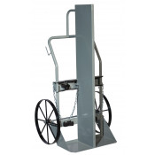 Double Cylinder Hand Truck with Firewall, 20 Inch Steel Wheels
