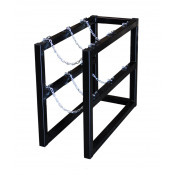 Gas Cylinder Barricade Rack, 3 Cylinder Capacity, 1 Wide by 3 Deep