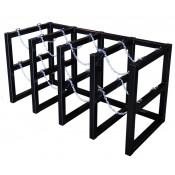 Gas Cylinder Barricade Rack, 8 Cylinder Capacity, 4 Wide by 2 Deep