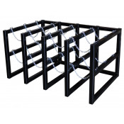 Gas Cylinder Barricade Rack, 12 Cylinder Capacity, 4 Wide by 3 Deep