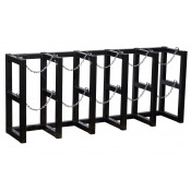 Gas Cylinder Barricade Rack, 5 Cylinder Capacity, 5 Wide by 1 Deep