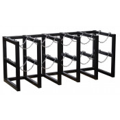 Gas Cylinder Barricade Rack, 10 Cylinder Capacity, 5 Wide by 2 Deep