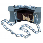 Gas Cylinder Support Bracket with Chain, 1 Cylinder Capacity, Wall Mount, Steel
