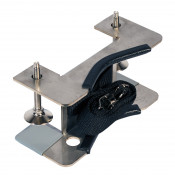 Gas Cylinder Support Bracket, 1 Cylinder Capacity, Bench Mount, Stainless Steel