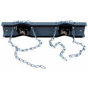 Gas Cylinder Support Bracket with Chain, 2 Cylinder Capacity, Wall Mount, Steel