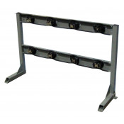 Gas Cylinder Stand, 4 Cylinder Capacity, In-Line, Steel