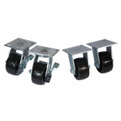 Swivel Caster Set for Gas Cylinder Carts, 4 Inch