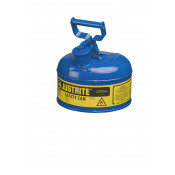 Type I Steel Safety Can for flammables, 1 gallon, S/S flame arrester, self-close lid, Blue.