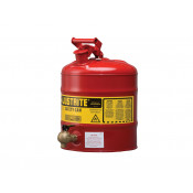 Type I Shelf Safety Can, 5 gallon, bottom 08540 faucet, S/S flame arrester, Steel, Red.