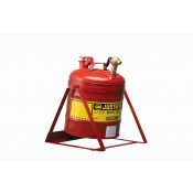 Type I Tilt Safety Can with Stand, 5 gallon, top 08540 faucet, S/S flame arrester, Steel, Red.