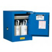 Sure-Grip  EX Countertop Hazardous Material Steel Safety Cabinet, Cap. 4 gal, 1 shelf 1 s/c door, Royal Blue.