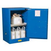 Sure-Grip  EX Compact Hazardous Material Steel Safety Cabinet, Cap. 12 gal, 1 shelf, 1 s/c door, Royal Blue.