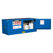 Sure-Grip  EX Piggyback Hazardous Material Steel Safety Cabinet, Cap. 12 gal, 2 s/c doors, Royal Blue.