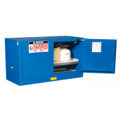 Sure-Grip  EX Piggyback Hazardous Material Steel Safety Cabinet, Cap. 17 gal, 1 shelf, 2 s/c doors Royal Blue.