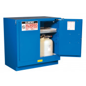 Sure-Grip  EX Undercounter Hazardous Material Steel Safety Cabinet, Cap. 22G, 1 shelf, 2 s/c doors Royal Blue.