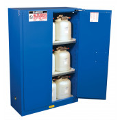 Sure-Grip  EX Hazardous Material Steel Safety Cabinet, Cap. 45 GAL, 2 shelves, 2 s/c doors, Royal Blue.