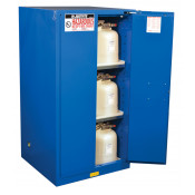 Sure-Grip  EX Hazardous Material Steel Safety Cabinet, Cap. 60 GAL, 2 shelves, 2 s/c doors, Royal Blue.