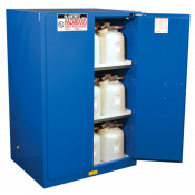 Sure-Grip  EX Hazardous Material Steel Safety Cabinet, Cap. 90 GAL, 2 shelves, 2 s/c doors, Royal Blue.