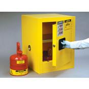 Sure-Grip  EX Countertop Flammable Safety Cabinet, Cap. 4 gallons, 1 shelf, 1 m/c door, Yellow.