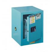 Sure-Grip  EX Countertop Corrosives/Acid Steel Safety Cabinet, Cap. 4 GAL, 1 shelf, 1 m/c door, Blue.