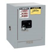 Sure-Grip  EX Countertop Flammable Safety Cabinet, Cap. 4 gallons, 1 shelf, 1 m/c door, Gray.