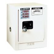 Sure-Grip  EX Countertop Flammable Safety Cabinet, Cap. 4 gallons, 1 shelf, 1 m/c door, White.