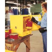 Sure-Grip  EX Countertop Flammable Safety Cabinet, Cap. 4 gallons, 1 shelf, 1 s/c door, Yellow.