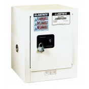Sure-Grip  EX Countertop Flammable Safety Cabinet, Cap. 4 gallons, 1 shelf, 1 s/c door, White.