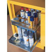 Sure-Grip  EX Benchtop Flammable Safety Cabinet, Cap. 24 aerosol cans, 2 drawers, 1 m/c door, Yel.