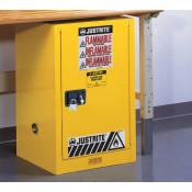 Sure-Grip  EX Compact Flammable Safety Cabinet, Cap. 12 gallons, 1 shelf, 1 s/c door, Yellow.