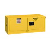 Sure-Grip  EX Piggyback Flammable Safety Cabinet, Cap. 12 gallons, 2 self-close doors, Yellow.