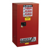 Sure-Grip  EX Combustibles Safety Cabinet for paint and ink, Cap. 20 gal, 2 shelves, 1 m/c door, Red.