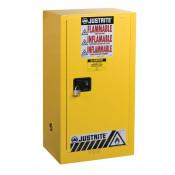 Sure-Grip  EX Compact Flammable Safety Cabinet, Cap. 15 gallons, 1 shelf, 1 s/c door, Yellow.